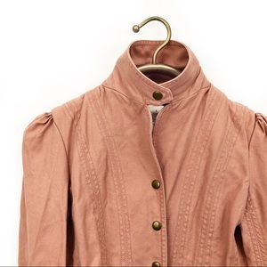Marc Jacobs blush pink military style jacket